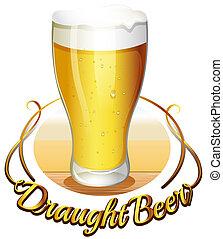draught, cerveja, etiqueta