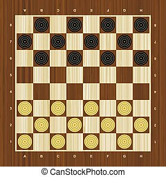 Draughts vector checker board