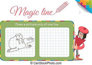 Draw a picture only of one line seal, walrus