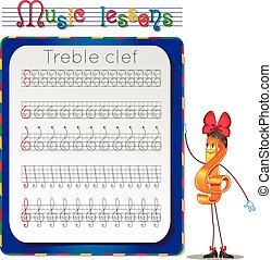 Draw a treble clef.