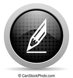 draw black circle web glossy icon