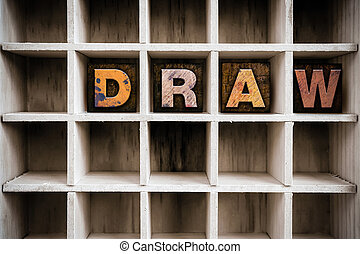 Draw Concept Wooden Letterpress Type in Draw