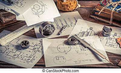 Draw diagrams of mechanical