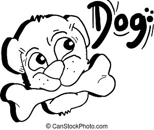 Draw dog - Creative design of draw dog