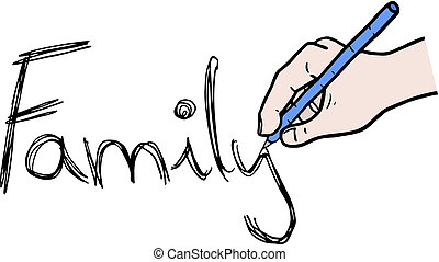 Draw family - Creative design of draw family