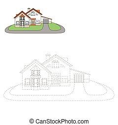 Draw house vector illustration
