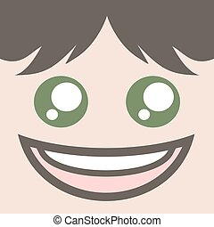very happy face design