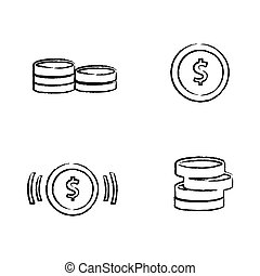 Draw set of coins