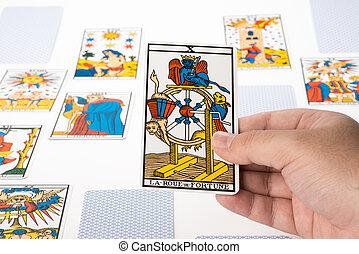 Draw tarot : The Wheel of Fortune - Draw tarot on white ...