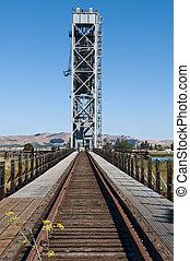 Drawbridge - Brazos railroad drawbridge over the Napa River...