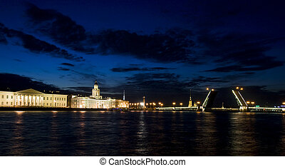 For the passage of vessels navigating the river Neva in St. Petersburg.