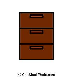 drawer vector design template illustration