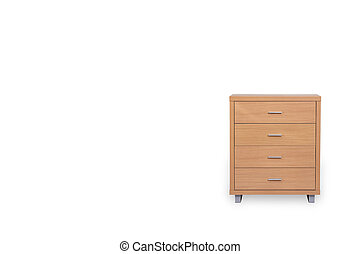 Drawers isolated on white background and space for copy.