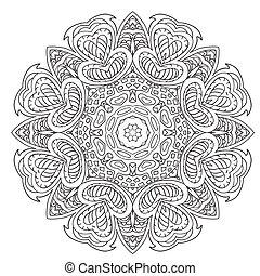 drawing., いたずら書き, mandala., 装飾, ラウンド