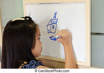 drawing., 子供