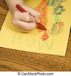 drawing., 男の子