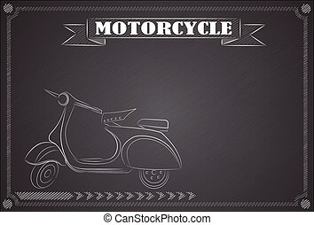 Drawing a motorcycle
