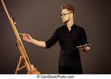 drawing a portrait