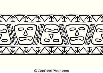 drawing., américain, tribal, national