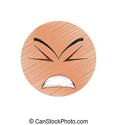 drawing angry winking emoticon image