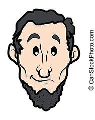 Abraham Lincoln Character Vector