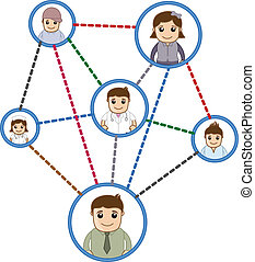 People Connected in Network