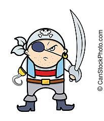 Pirate Captain - Drawing Art of Cartoon Pirate Captain...