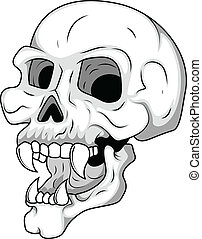 Skull Having Long Teeth