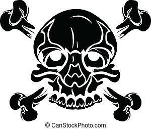 Skull in Tribal Style