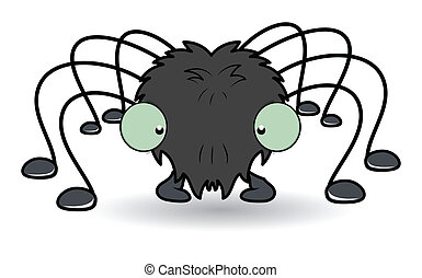 cartoon spider - Halloween vector