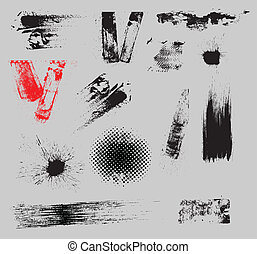 Grunge Strokes and Overlay Vector