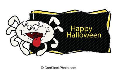 happy Halloween vector banner