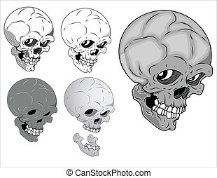 Horrible Skulls Vector