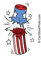 Independence day Firecracker Burst - Drawing Art of...