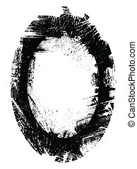 Messy Grunge Frame Vector Overlay - Drawing Art of Messy...