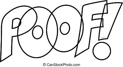 Poof Comic Vector