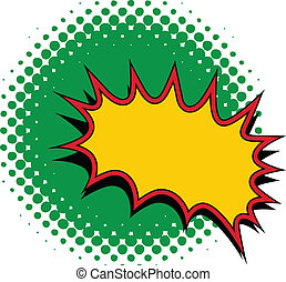 Comic Burst Vector - Drawing Art of Retro Comic Burst Vector...