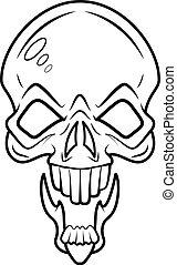 Spooky Skull Face Vector