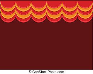 Stage - Cartoon Background Vector
