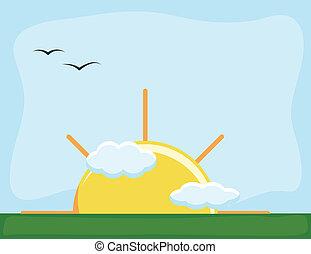 Sunrise - Cartoon Background