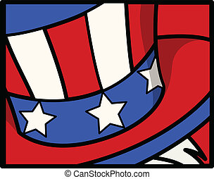 Uncle Sam Hat - 4th of July Vector - Drawing Art of Uncle...