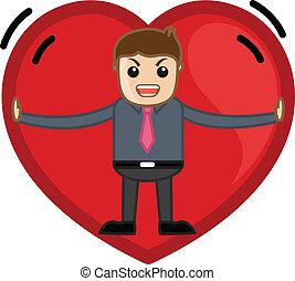 Stuck in a Heart Vector