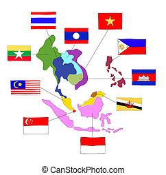 drawing ASEAN Economic Community, AEC