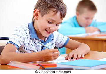 Drawing at school