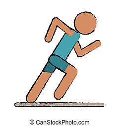 drawing athletic runner sport active