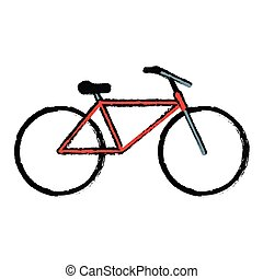drawing bicycle transport active sport