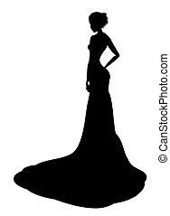 noble lady silhouette - drawing black noble lady silhouette ...