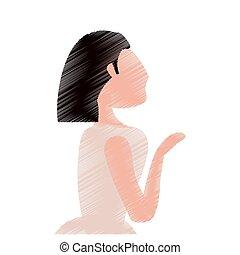 drawing bride woman beautiful