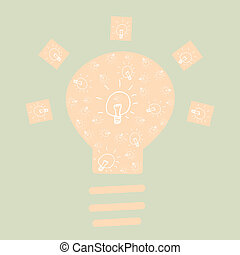 Drawing bulb light background