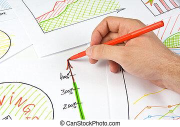 Drawing business diagram